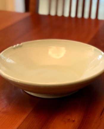 handmade porcelain serving bowl