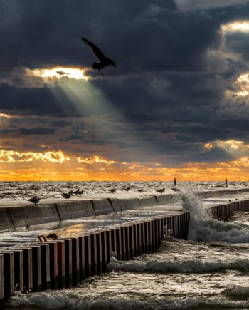 North Pier Sunset Art Photograph by Bob Walma