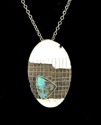 Oval Boulder Opal Pendant by Julie Billups