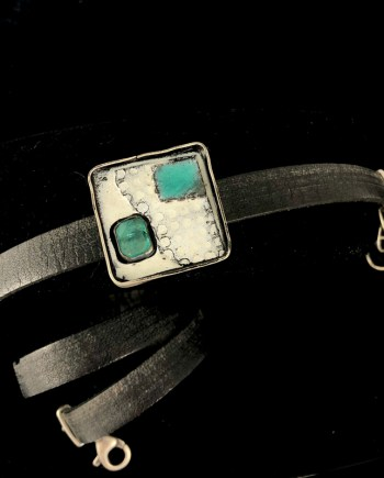 Apatite Leather Wrap Bracelet