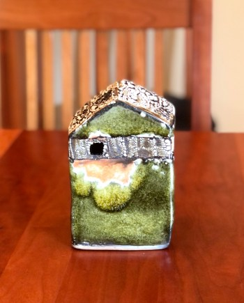 handmade decorative ceramic cottage