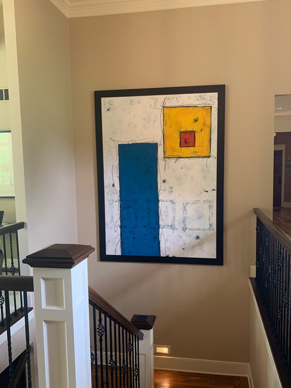 Abstract painting in clients home