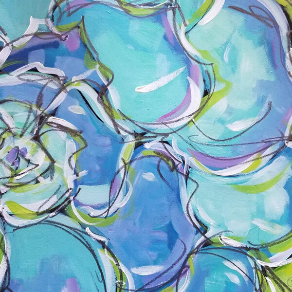Succulent Series- Acrylic Paintings by Christi Dreese