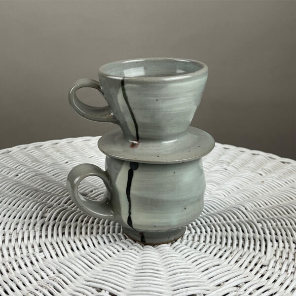 handmade ceramic coffee pour over by julie devers