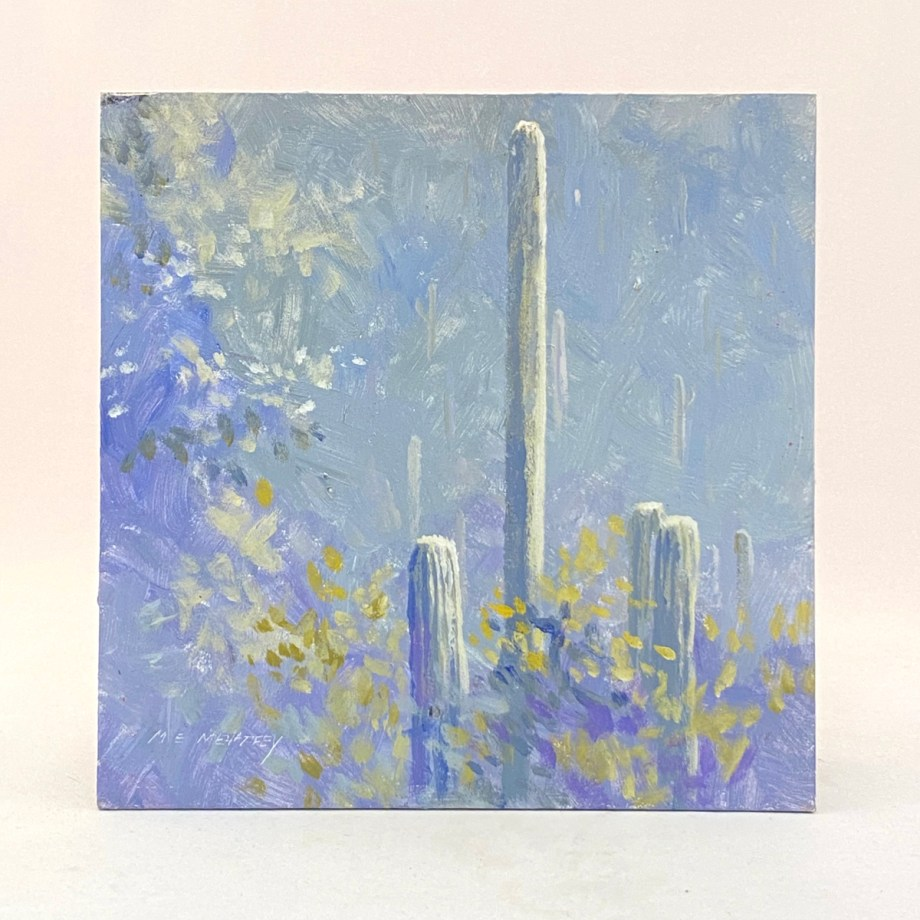 landscape painting by mark mehaffey cactus