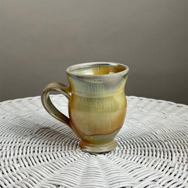wood fired pottery mug