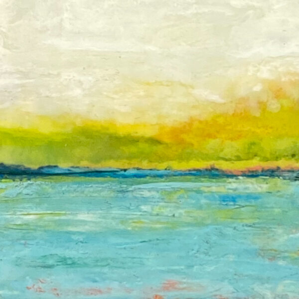 Peaceful Morning - Encaustic Painting by Ronna Alexander