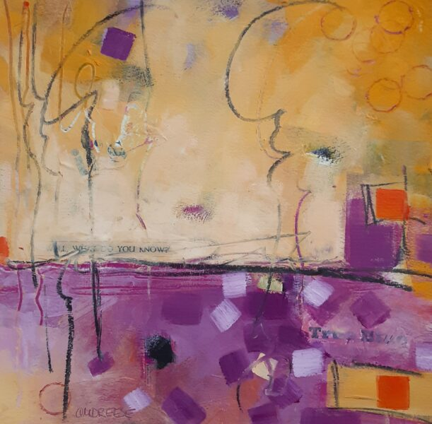 Dreamer abstract painting by christi drease