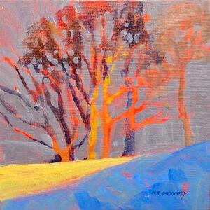 Winter Sun - Acrylic Painting by Mark Mehaffey