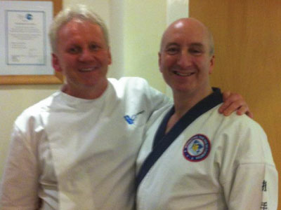 Master Richard Hellings (Cardiff tang soo do) and Rainer Wieser