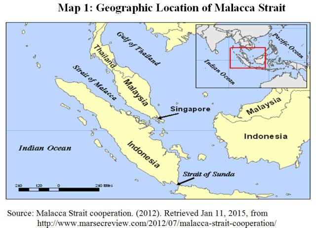 Physical Map Strait Malacca