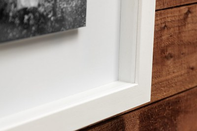 """Mirage Frame - 40""""x20"""" - Frame = White - Mount Board = White - 4"""" Outside / 1"""" in Between Images"""