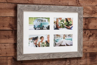"""Natural Frame - 30""""x20"""" - Template Used = DT-161 - 30x20 (11x6 x4) - Frame = Grey Thick / Mount - Minuet / Glass = Yes"""