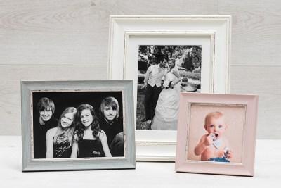"""Pastel Frame - Desktop - 5""""x5"""" - Pink Thin / 8""""x6"""" - Blue Thin / 10""""x8"""" White Thick"""