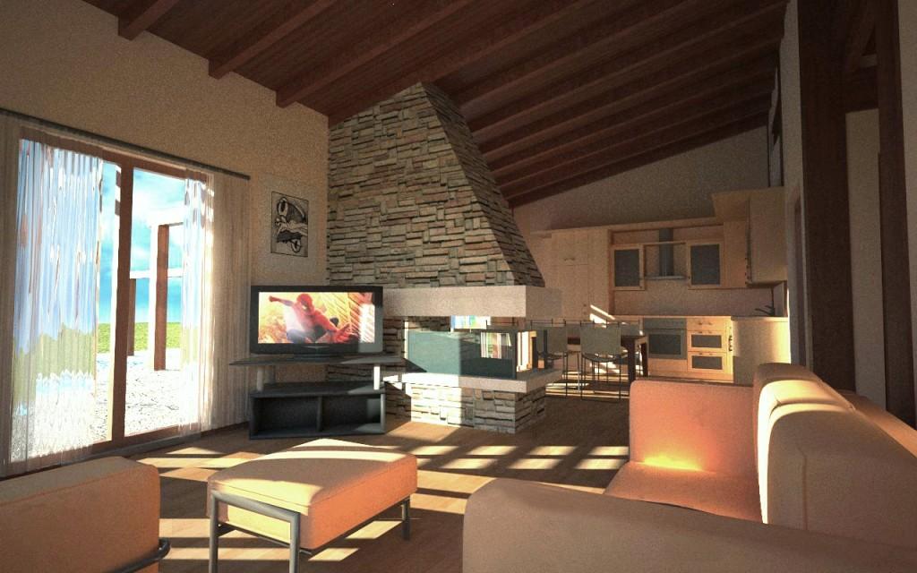 interni casa legno  jarno  Gallery  C4Dzone
