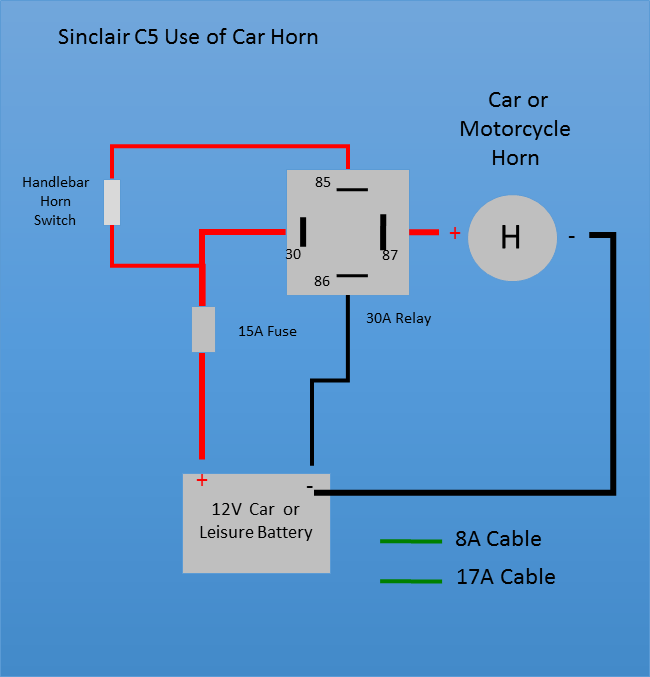 30a relay wiring diagram minn kota riptide 55 sinclair c5 simplified controls if you want a loud horn can fit car or motorcycle
