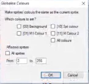 Sprite Editor Globalize Colours