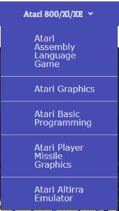 Atari menus
