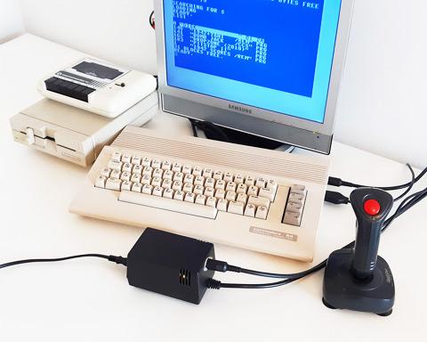 """C64C & 1541-II system running new C64 PSU """"2-in-1"""" data-recalc-dims="""