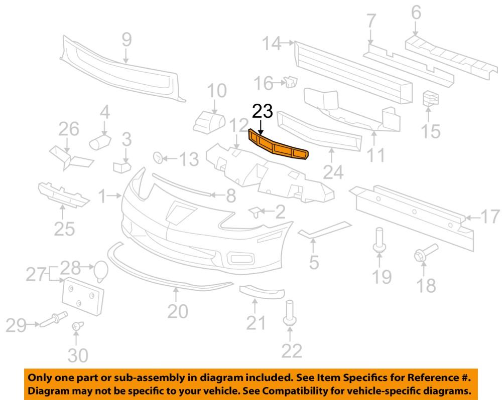medium resolution of gm oem front c6 corvette z06 grand sport zr1 front bumper lower grille