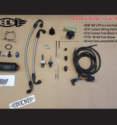 c5 corvette ecs stage i fuel system for 1997 to early 2003 corvettes hat large [ 1200 x 927 Pixel ]