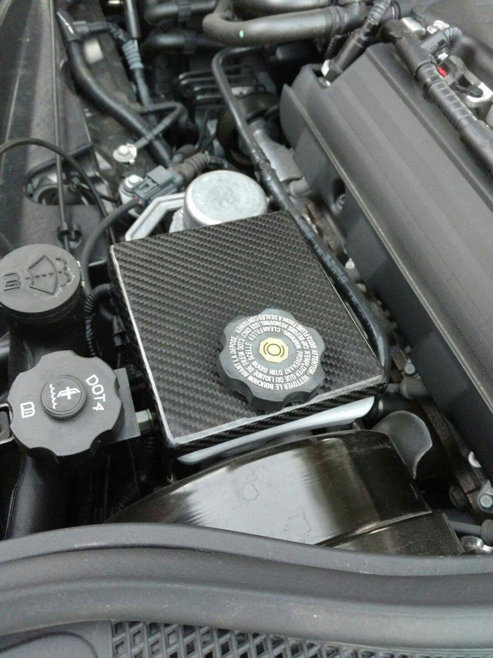 medium resolution of c7 corvette real carbon fiber engine cover package fuse box alternator brake reservoir