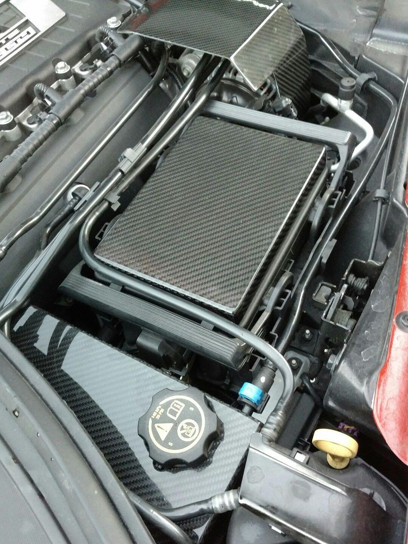 hight resolution of c7 corvette real carbon fiber engine cover package fuse box alternator brake reservoir