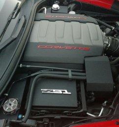c7 corvette 4 piece engine cover kit fuse box alternator brake reservoir  [ 1600 x 1200 Pixel ]