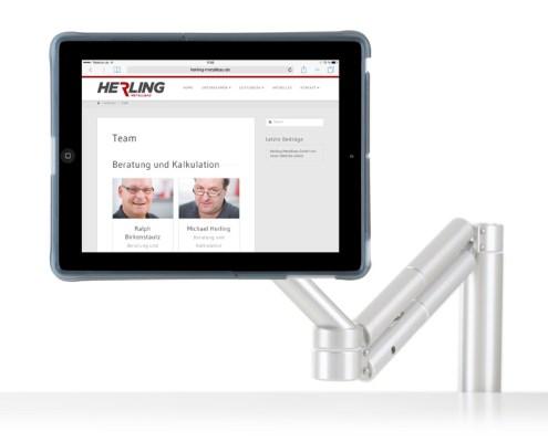 Webdesign Herling Metallbau GmbH - Erstellung einer neuen Website