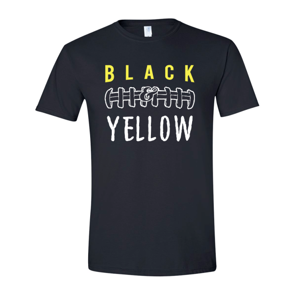 Black and Yellow T-shirt Unisex