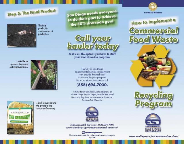 Waste Reduction & Recycling Resources Signs & Brochures Institute