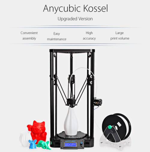 test anycubic kossel l 39 imprimante 3d delta pour petit budget a sert a quoi. Black Bedroom Furniture Sets. Home Design Ideas