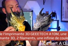 Photo of Test de l'imprimante 3D GEEETECH A10M, une imprimante 3D, 2 filaments, une infinie de couleurs