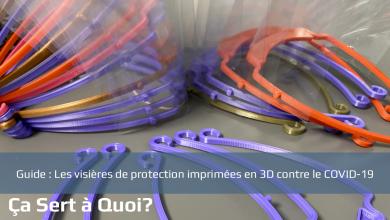 Photo de Les visières de protection imprimées en 3D contre le COVID-19