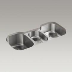 Triple Sink Kitchen Cabinet Organizer Kohler Canada K 3166 Undertone 41 5 8 X 20 1 9 2 Under Mount Bowl