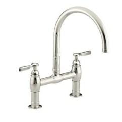 Bridge Faucets Kitchen Ceramic Cabinet Knobs Kohler Canada K 6130 4 Parq Deck Mount Faucet