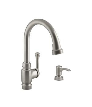 4 hole kitchen faucets best faucet brands kohler canada k r72512 sd carmichael with 15 1 2 pull