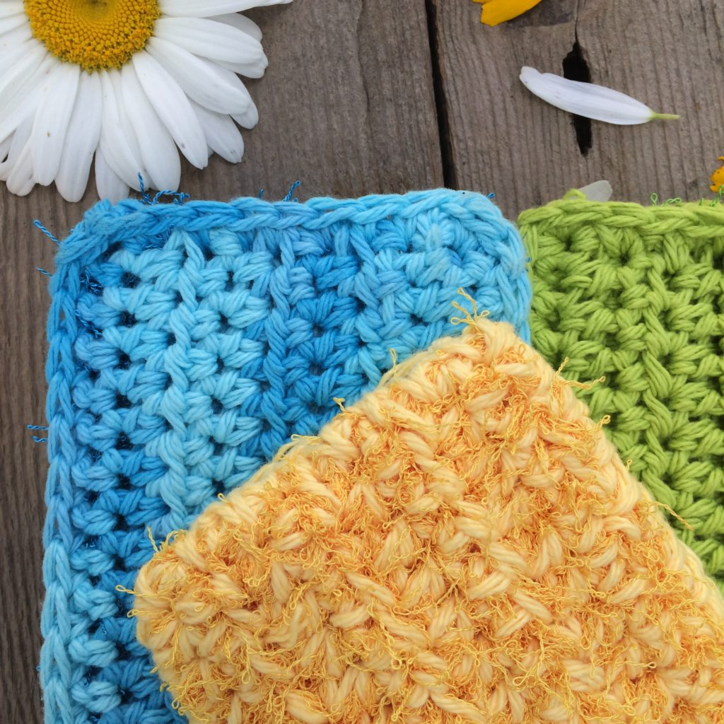 kitchen cotton yarn white tile crochet scrubby pattern quick and easy