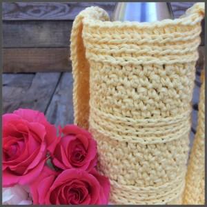 Crochet water bottle carrier 2
