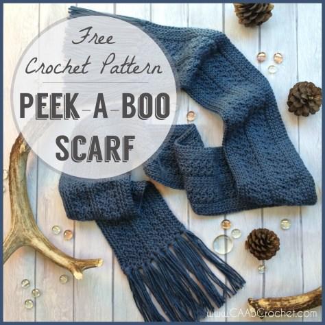 Crochet Scarf Pattern Peek A Boo Scarf Free Crochet Pattern