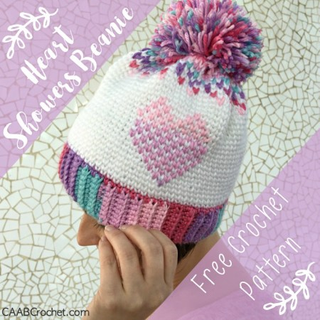 I ve been working hard to get this crochet heart hat pattern done in plenty  of time for Valentine s Day! This hat is full of color and contrast and  neat da81e37f815