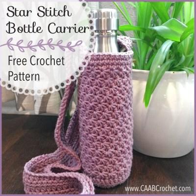 Crochet Water Bottle Carrier Pattern Crochet Water Bottle Holder