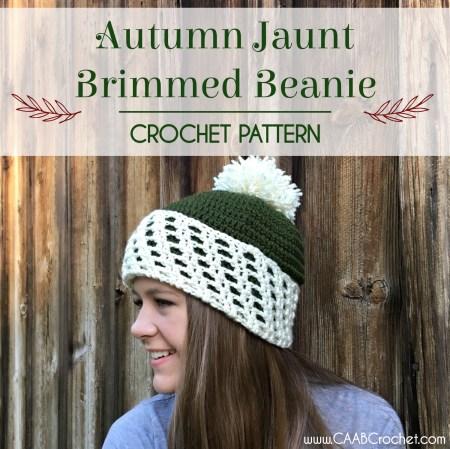 Autumn Jaunt Brimmed Beanie Pattern Cute As A Button Crochet