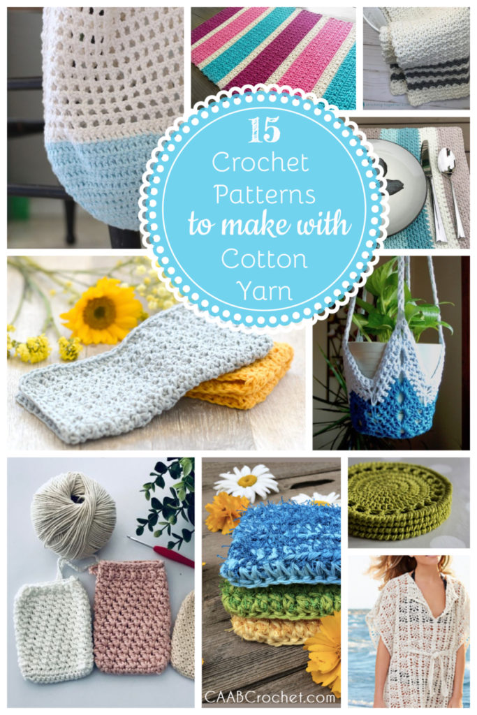 15 Crochet Patterns to Make With Cotton Yarn Cute As A