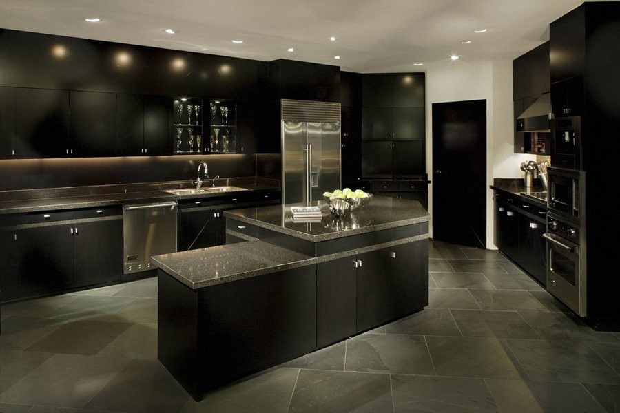 dark grey flooring living room teal and orange 1040 osborn modern penthouse in phoenix - caandesign ...