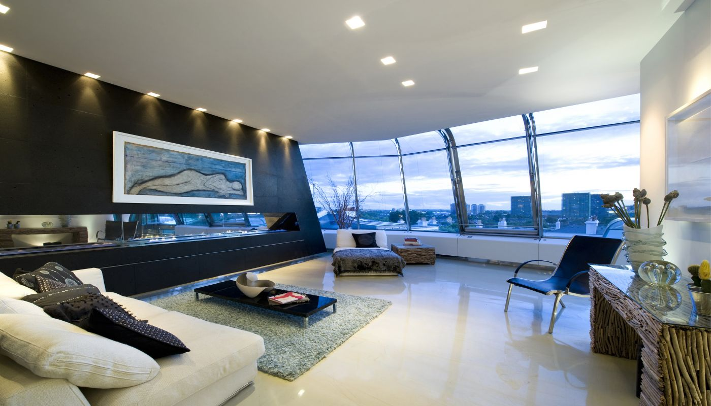 The Penthouse in London by Richard Hywel Evans Architects