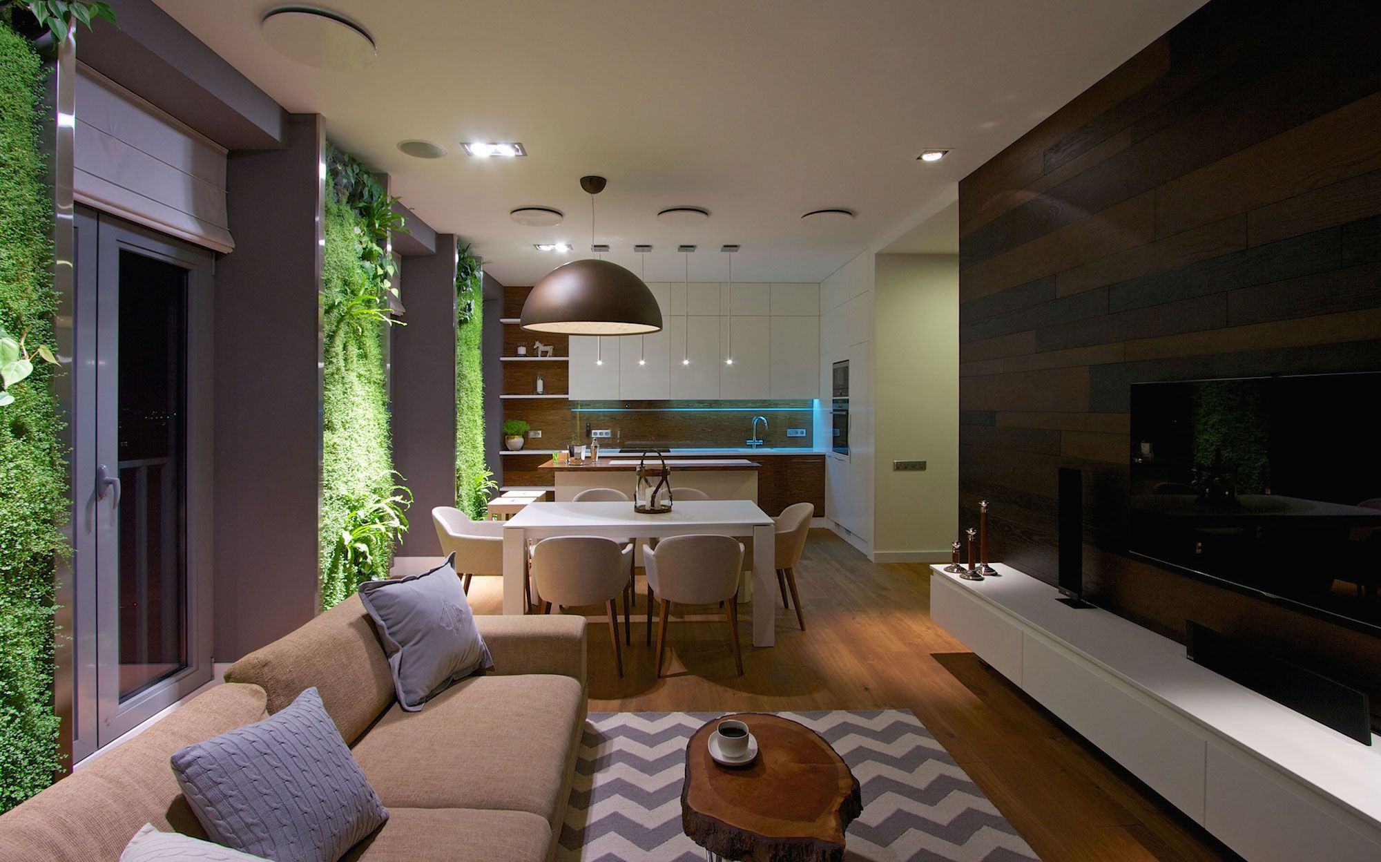 Green Grass Walls Apartment by SVOYA Studio-22