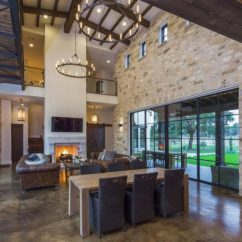 New York Loft Style Living Room Interior Design Ideas Colors Contemporary Italian Farmhouse In Texas With A Rustic ...