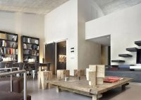 Contemporary open-plan space apartment in Barcelona ...