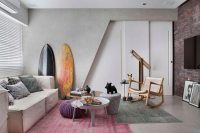 Colourful chic apartment designed for a 30s single man in ...